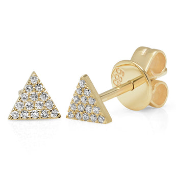 Mini Diamond Triangle Stud Earring | Harrisons Collection