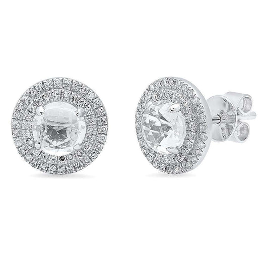 Double Halo Studs | Harrisons Collection