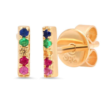 Multi Color Bar Stud Earrings | Harrisons Collection