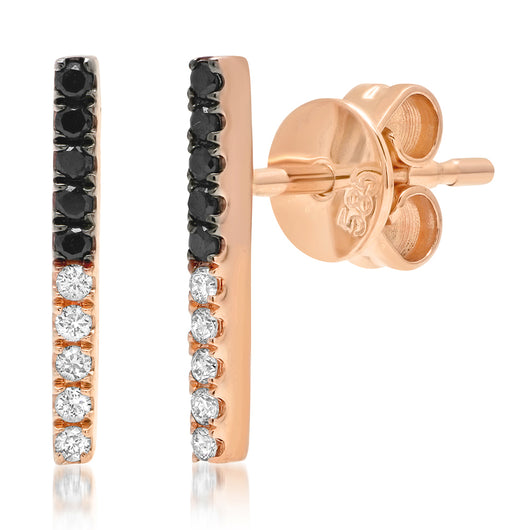 Two Tone Bar Earrings | Harrisons Collection