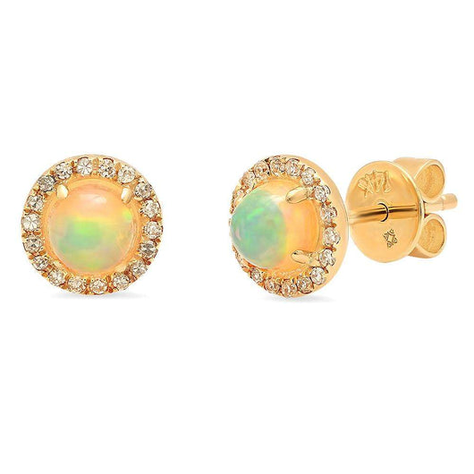 Opal and Diamond Studs | Harrisons Collection