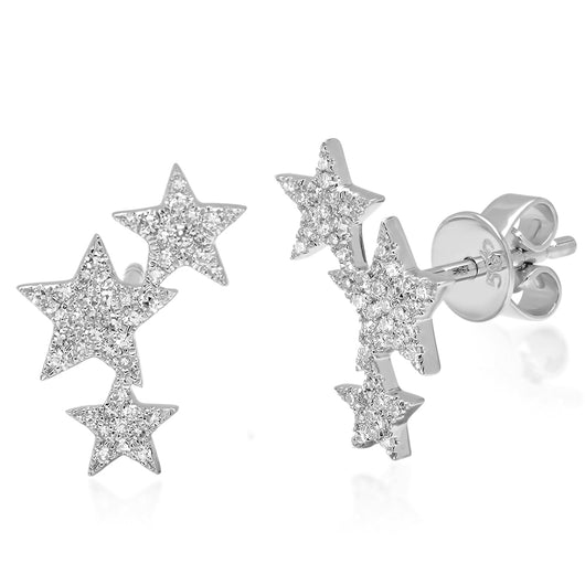 Diamond Star Cluster Studs | Harrisons Collection