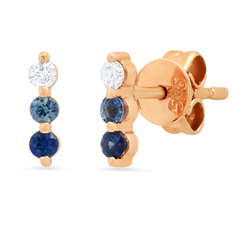 Blue Ombre Studs | Harrisons Collection