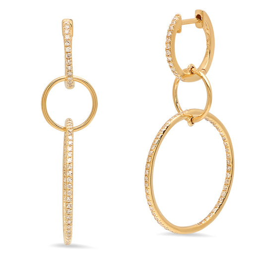 Diamond Multi Hoop Earrings | Harrisons Collection