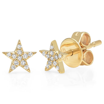 Diamond Star Studs | Harrisons Collection
