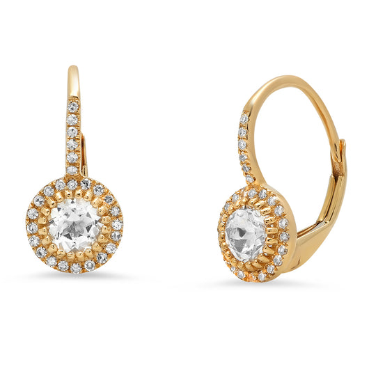 White Topaz and Diamond Drop Earrings | Harrisons Collection
