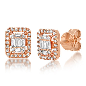 Diamond Cluster Studs | Harrisons Collection