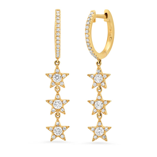 Hanging Diamond Star Earrings | Harrisons Collection