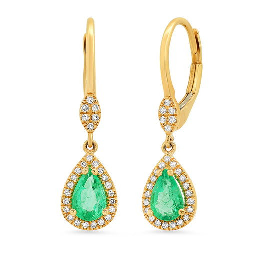Emerald Drop Earrings | Harrisons Collection