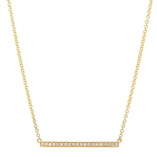 Yellow Gold Bar Necklace | Harrisons Collection
