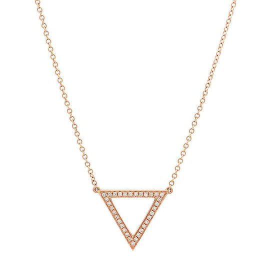 Open Diamond Triangle Necklace | Harrisons Collection
