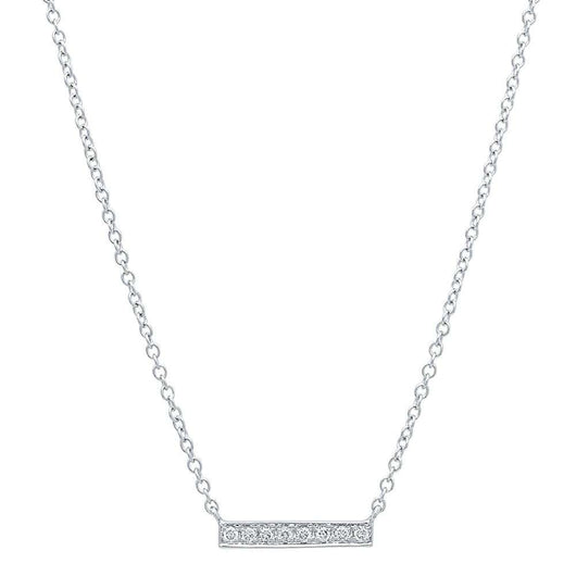 Mini Diamond Bar Necklace | Harrisons Collection