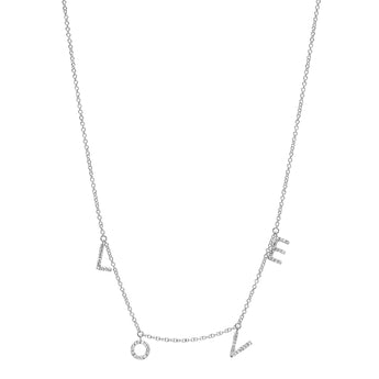Hanging LOVE Necklace | Harrisons Collection