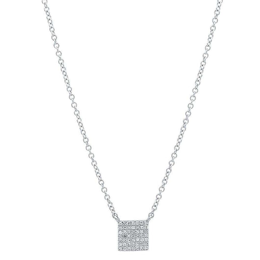 Mini Diamond Square Necklace | Harrisons Collection