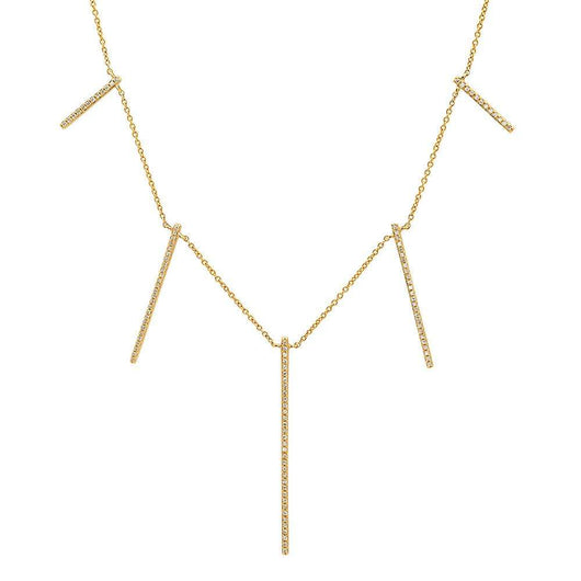 Multi Bar Diamond Necklace | Harrisons Collection