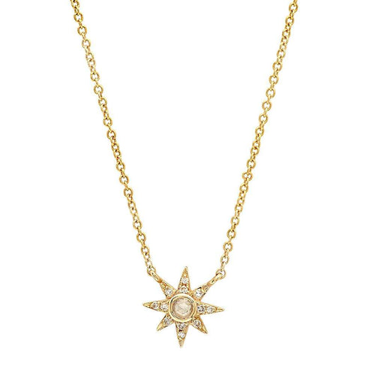 Mini Diamond Sun Necklace | Harrisons Collection