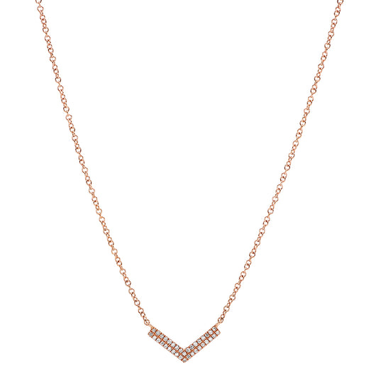 Double Diamond V Necklace | Harrisons Collection