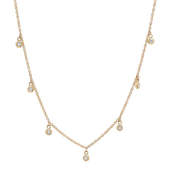 Diamond Bezel Drop Necklace | Harrisons Collection