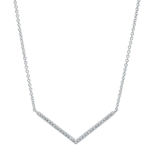 Diamond Chevron Necklace | Harrisons Collection