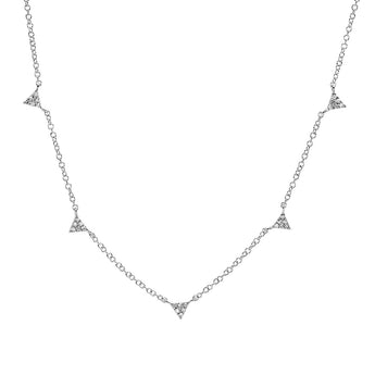 Mini Diamond Triangle Necklace | Harrisons Collection