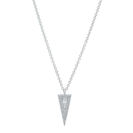 Diamond Baguette Triangle Necklace | Harrisons Collection