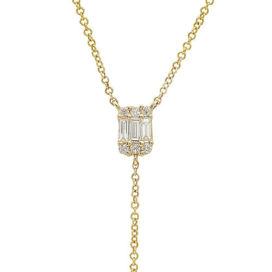 Baguette Diamond Lariat | Harrisons Collection