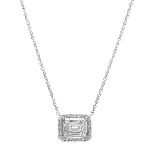 Diamond Baguette Illusion Necklace