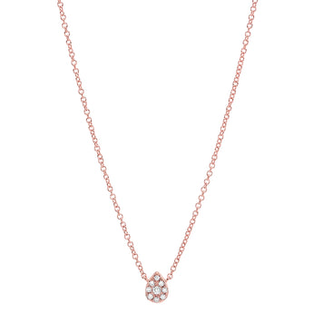 Pave Diamond Pear Choker | Harrisons Collection