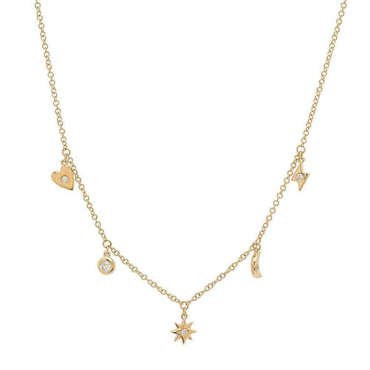 Diamond Charm Necklace | Harrisons Collection
