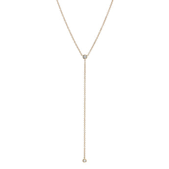 Diamond Solitaire Lariat | Harrisons Collection
