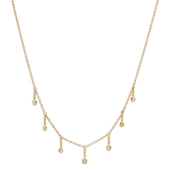 Hanging Diamond Bezel Necklace | Harrisons Collection