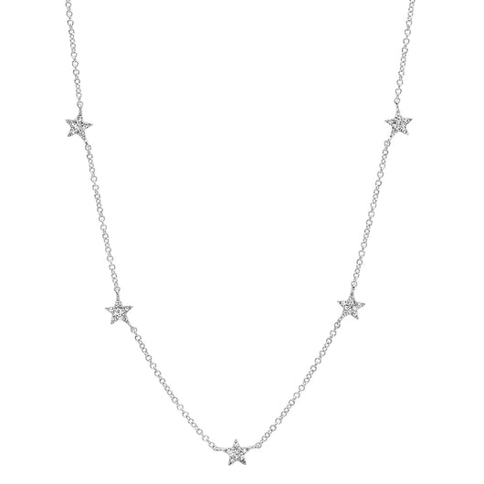 Diamond Star Station Necklace | Harrisons Collection