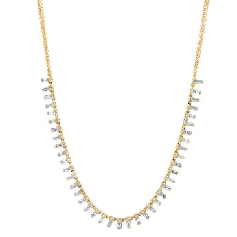 Diamond Baguette Collar Necklace | Harrisons Collection