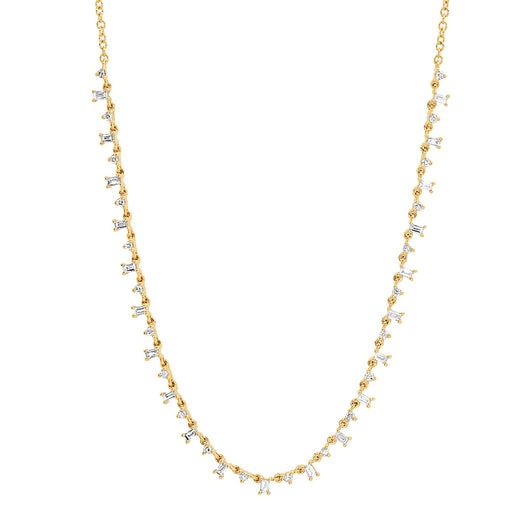 Diamond & Baguette Necklace | Harrisons Collection