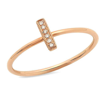 Mini Diamond Bar Ring | Harrisons Collection