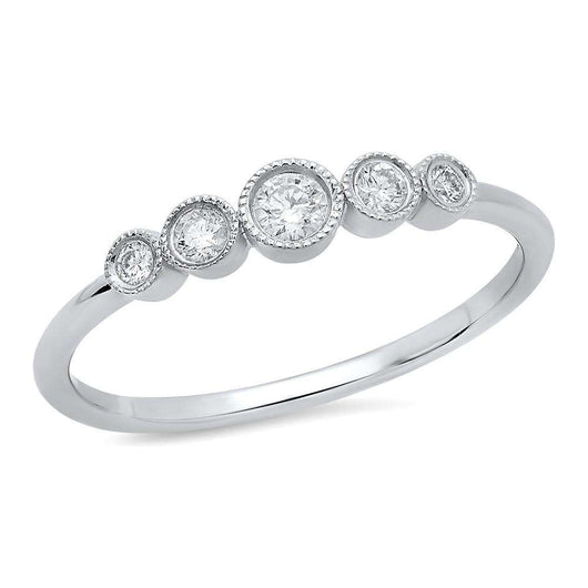 Diamond Bezel Ring | Harrisons Collection