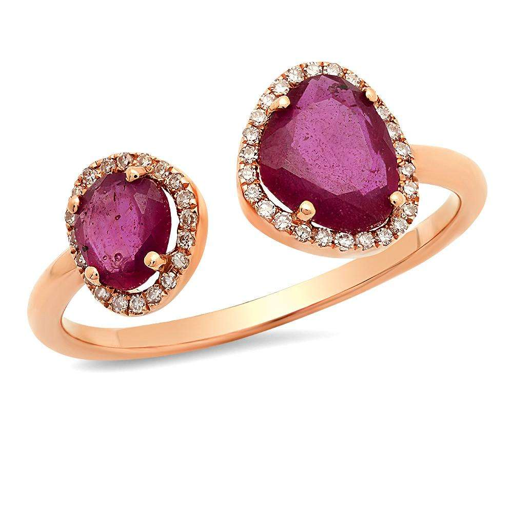 Double Ruby Ring | Harrisons Collection