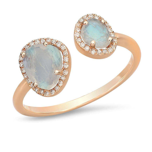 Double Rainbow Moonstone Ring | Harrisons Collection