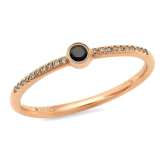 Center Black Diamond Bezel Ring | Harrisons Collection