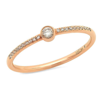 Center Diamond Bezel Ring | Harrisons Collection