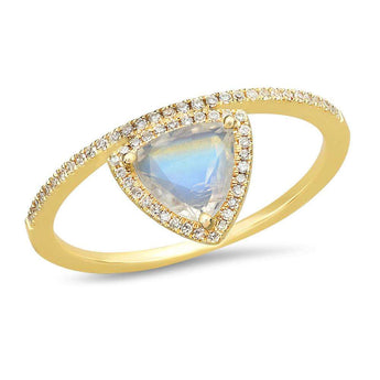 Rainbow Moonstone Crown Ring | Harrisons Collection