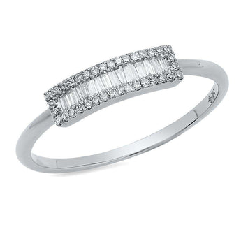 Baguette Diamond Bar Ring | Harrisons Collection