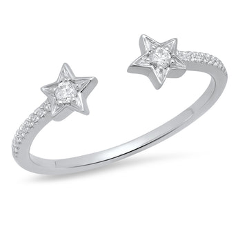 Double Diamond Star Ring | Harrisons Collection