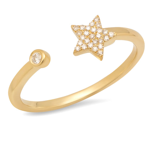 Diamond Star and Solitaire Ring | Harrisons Collection
