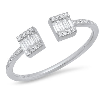 Double Diamond Baguette Ring | Harrisons Collection
