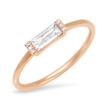 Baguette Topaz Ring | Harrisons Collection