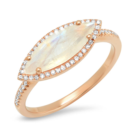 Mini Marquis Moonstone Ring | Harrisons Collection