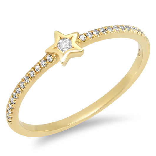 Star Solitaire Ring | Harrisons Collection
