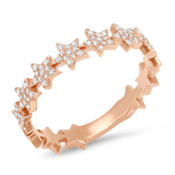 Diamond Star Eternity Band | Harrisons Collection