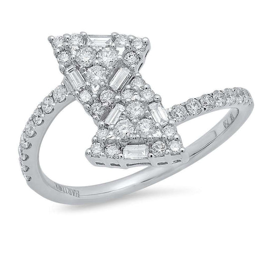 Triangle Diamond Cluster Ring | Harrisons Collection